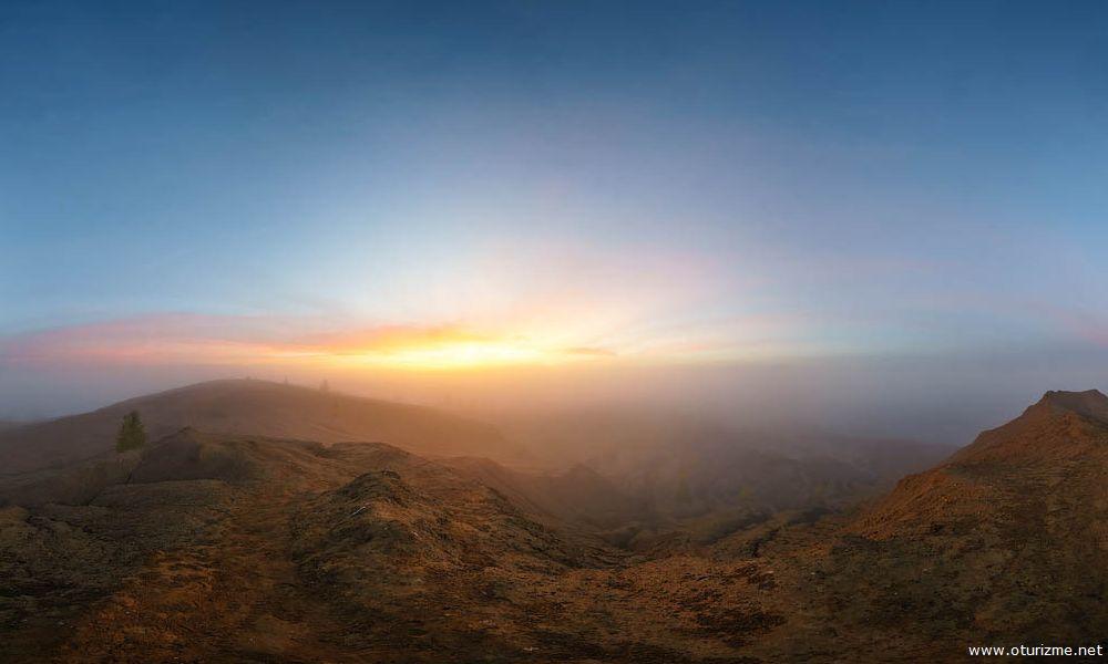Восход солнца в Романцевских горах, Кондуки, Тульская область