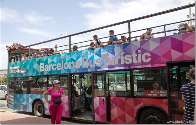 Экскурсионный автобус в Барселоне